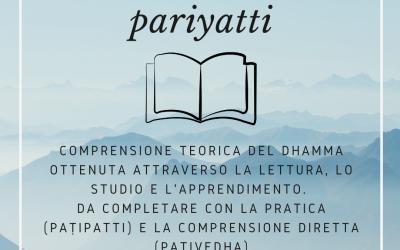 Parola Pāli del Giorno: Pariyatti